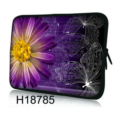 "Huado pouzdro na notebook do 10.2"" Gerbera a motýlci"
