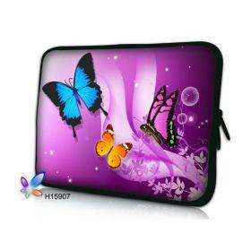 "Huado pouzdro na notebook do 12.1"" Motýlci ve fialové"