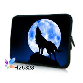 """Huado pouzdro na notebook do 12.1"""" Vlk vyjící na měsíc"""