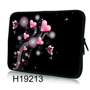 """Huado pouzdro na notebook do 12.1"""" Růžové srdíčka"""