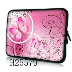 """Huado pouzdro na notebook do 13.3"""" Motýlek růžový"""