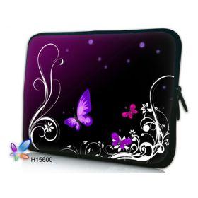 """Huado pouzdro na notebook do 14.4"""" Purpurový motýlci"""