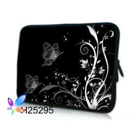 """Huado pouzdro na notebook do 14.4"""" Černobílý motýlci"""