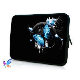 """Huado pouzdro na notebook do 15.6"""" Modrý motýl"""