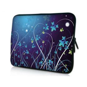 """Huado pouzdro na notebook do 15.6"""" Modré květy"""