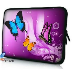 "Huado pouzdro na notebook do 17.4"" Motýlci ve fialové"