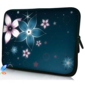 """Huado pouzdro na notebook do 17.4"""" Modré kvítí"""