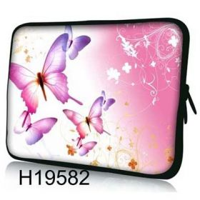 """Huado pouzdro na notebook do 17.4"""" Růžový motýlci"""