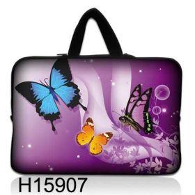 "Huado taška na notebook do 10.2"" Motýlci ve fialové"