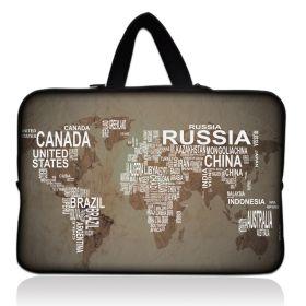 """Huado taška na notebook do 15.6"""" Mapa světa"""