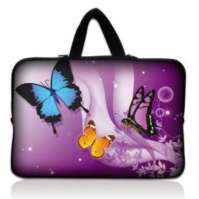 "Huado taška na notebook do 17.4"" Motýlci ve fialové"