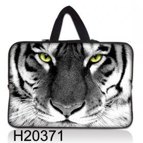 """Huado taška na notebook do 17.4"""" Tygr černobílý"""