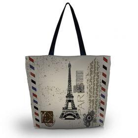 Nákupní a plážová taška Huado - Eiffelova věž