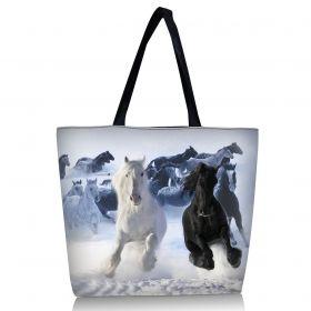 Nákupní a plážová taška Huado - Koně