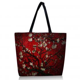 Nákupní a plážová taška Huado - Červená třešeň