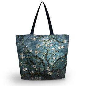 Nákupní a plážová taška Huado - Modrá třešeň