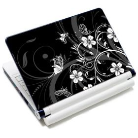 """Samolepka, skin Huado pro notebook 12""""-15,6"""" Květiny a motýlci"""