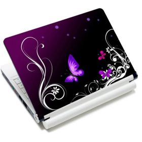 "Samolepka, skin Huado pro notebook 12""-15,6"" Purpurový motýlci"