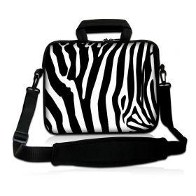 """Taška přes rameno Huado do 15.6"""" Zebra"""