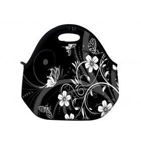 Termotaška Huado z neoprénu- Květiny a motýlci