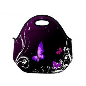 Termotaška Huado z neoprénu- Purpurový motýlci